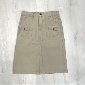 Gap Khaki below the knee skirt